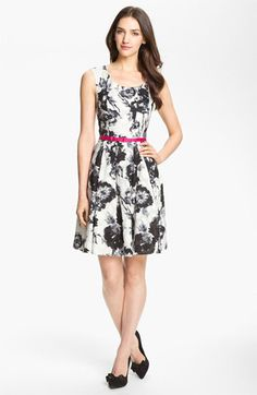 Donna Ricco Belted Print Dress available at #Nordstrom