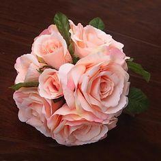 Elegant Fresh Rose Wedding Bridal Bouquets(More Colors) – USD $ 14.99