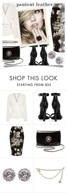 """Untitled #1284"" by kaymeans ❤ liked on Polyvore featuring Elizabeth and James, Yves Saint Laurent, River Island, Chanel, Ted Baker and Maybelline"
