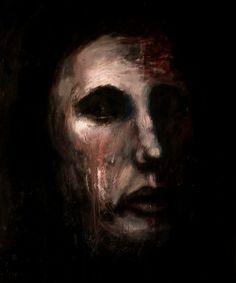 """Kacper Piskorowski """"Untitled"""", oil on board, 50-60, 2015"""