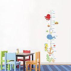 Adesivo de Parede  Decorativo Infantil Stixx Reguinha Fundo do Mar Menino Colorido (38x140x1cm)