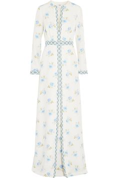 Shop on-sale Vilshenko Printed silk maxi dress. Browse other discount designer Dresses & more on The Most Fashionable Fashion Outlet, THE OUTNET.COM