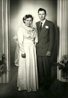 Wedding of Flora Sombrero & Rulon Lind, January 14th 1954 in the St. George LDS Temple. Image by Neeta Lind (CC-BY).