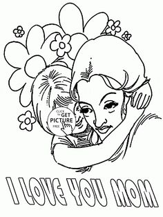 Big Huge For Mothers Day Coloring Page Kids Pages Printables Free