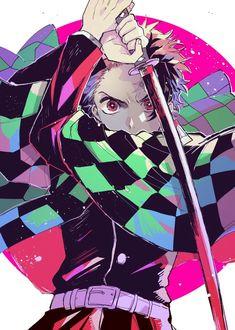 Kimetsu no Yaiba KNY Nezuko brother demon slayer demon hunter anime boy art Manga Anime, Anime Demon, Anime Art, Manga Art, Demon Slayer, Slayer Anime, Katana Anime, Anime Love, Anime Guys