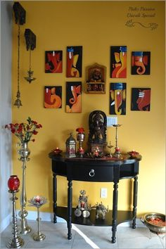 Diwali Decked Entrance (Diwali Part Ethnic Home Decor, Indian Home Decor, Diwali Decorations At Home, Garden Decorations, Flower Decorations, Upcycle Home, Indian Inspired Decor, Pooja Room Design, Foyer Design