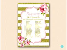 Pink and Gold how sweet it is baby shower by MagicalPrintable
