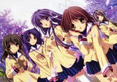 CLANNAD Anime Girl Kyou Nagisa Tomoyo Key Chain Keyring Car Keychains Gift