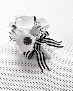 Black & White Paper Bouquet | Martha Stewart Weddings