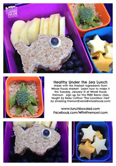 Sneak Peek at the bento lunches for my class @Whole Foods Market and win a $50 Gift Card to #Whole Foods! #bento #underthesea #laptoplunches