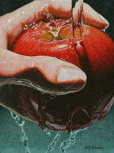 "Holly Bedrosian: ""Still Life Sabotage"", Colored Pencil."