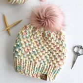 Loom Knit Hat, Baby Hat Knitting Pattern, Chunky Knitting Patterns, Baby Hat Patterns, Baby Hats Knitting, Beanie Pattern, Knit Patterns, Loom Knitting, Crochet Mermaid Tail