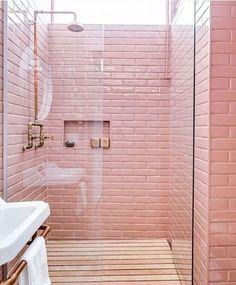 pink blush bathroom
