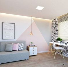 33 Best Geometric Wall Art Paint Design Ideas – – DIY Geometric Wall ShelvesGeometric Print WallLiving Room Painting Ideas: Make It Alive With Stunning DIY Wall Painting Design Ideas Living Room Decor, Bedroom Decor, Bedroom Wall Designs, Paint Ideas For Bedroom, Bedroom Apartment, Apartment Ideas, Wall Art Bedroom, Kids Bedroom Paint, Paint My Room