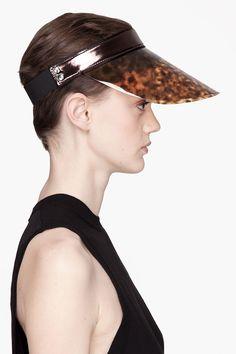 LANVIN Tortoiseshell visor