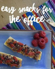 Want an easy snack for the office?Try Fresh fruit + almond butter + a sprinkle of Healthworks goji berries and cacao nibs!