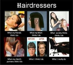 What does a hairdresser do?  hair humor | hairdresser perception |
