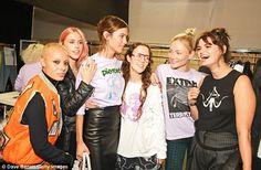 Joking around:Adwoa Aboah, Mary, Alexa, Ashley, Clara and Pixie were in high spirits backstage