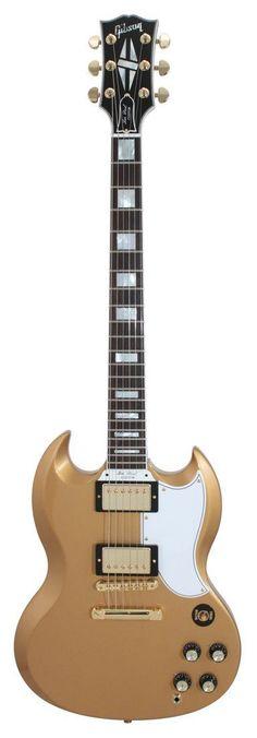 Gibson Custom Shop SG Custom 2 Pickup All Gold Electric Guitar | Rainbow Guitars #Guitartypes