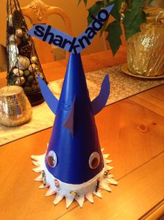 Sharknado hat for crazy hat day at school