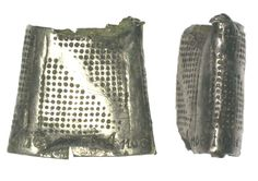 "mid-17C silver thimble inscribed ""Niglect noe time"" -- cf. previous -- and dated ""1649"". This is DOR-2FE7D8 on the PAS site."