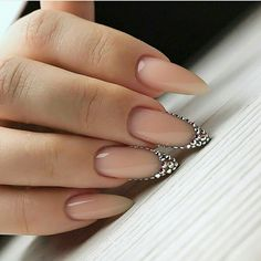 mountain peak nail shape