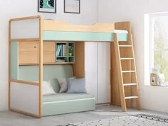 Raised beds bedroom - hochbeete schlafzimmer - chambre surélevée - dormitorio con … in 2020 (With images) Loft Beds For Small Rooms, Small Room Design Bedroom, Bed For Girls Room, Room Ideas Bedroom, Home Room Design, Bedroom Decor, Tiny Bedrooms, Bedroom Ideas For Small Rooms Diy, Bunk Beds For Kids