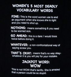 NerdKungFu - Women's 5 Most Deadly Vocabulary Words T-Shirt, $13.95 (https://www.nerdkungfu.com/womens-5-most-deadly-vocabulary-words-t-shirt/?attributes=eyIyNDcyNCI6IjQzNzUxIn0/)