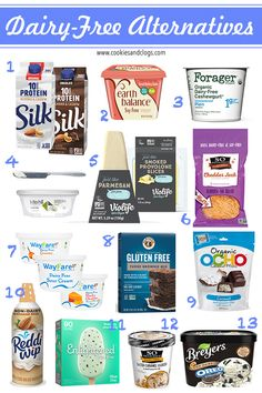 Almost Perfect Dairy Free Alternatives That Make Food Tasty Again - - It's been over two years since my body started to reject dairy (not just lactose but all animal-milk based items). Dairy Free Snacks, Dairy Free Cheese, No Dairy Recipes, Dairy Free Food List, Lactose Free Foods, Dairy Free Dinners, No Dairy Diet, Dairy Free Diet Plan, Dairy Free Recipes For Kids