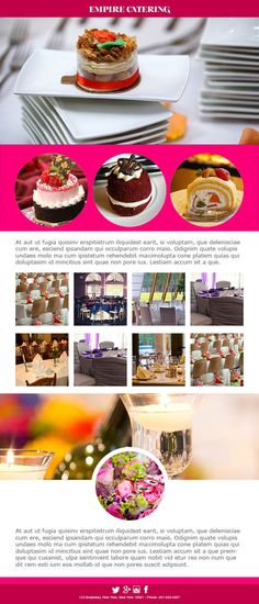10 best Email Templates for Catering Services images on Pinterest
