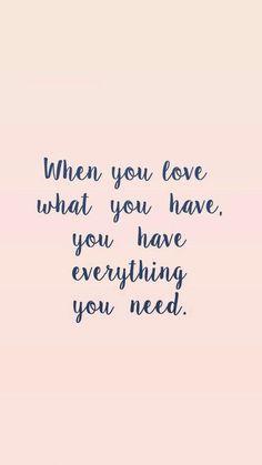 Cuando amas lo que tenes, tenes todo lo que necesitas! #asidesimple