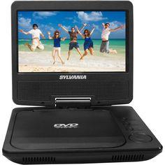 Refurbished 7-inch Sylvania SDVD7051 Swivel Screen Portable DVD Player w/Rechargable Battery