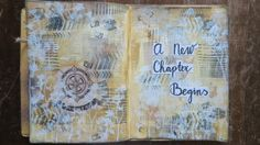 Art journal page: A new chapter begins
