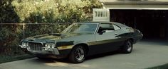 In Gran Torino, Walt Kowalski had two great vehicles to drive. His daily driver was a 1972 Ford F-Series pickup. However, his pride and joy was a 1972 Ford Gran Torino Sport that he helped build du… Grand Torino, Gran Torino Film, Clint Eastwood, American Graffiti, Starsky & Hutch, Ford Torino, Ford Motor Company, Mad Max, Ford Mustang