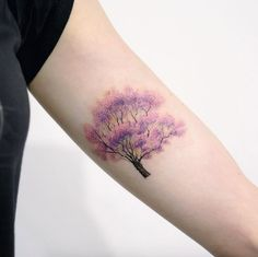 Violet Tree by Doy
