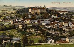 Günther Hrabě De Angelis. Vintage view of Vimperk - Winterberg - of old.