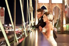 Destination Wedding - Brooklyn Bridge outside NYNY Hotel and Casino in Las Vegas, NV (via a dey in the Life... photography)