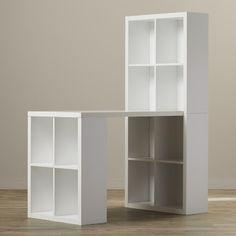 Un plan de travail pos sur un kallax 4 cases et dessus un autre kallax 8 cases id es pour la - Kallax 8 cases ...