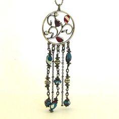 Dangle Chains Fringe Necklace. BOHO Chic Jewelry
