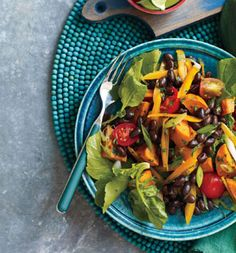 Roasted Sweet Potato and Black Bean Salad from Self Magazine