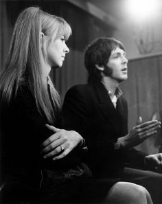 Jane and Paul in 1968 right after their return from India. Notice Jane's engagement ring (which she returned to Paul later that same year).