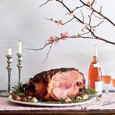Baked Ham with Rosemary and Sweet Vermouth Recipes   CookingLight.com