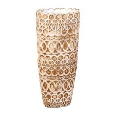 Ivory Cottage Lace Vase | Kirklands