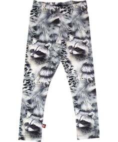 Oh Yeah! Molo funky fashionable racoon printed leggings #emilea