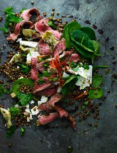 A protein-rich dinner recipe that takes just 20 minutes to put together! Try this puy lentil, steak and feta supper for a speedy midweek meal for 2.