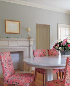 Farrow & Ball Blue Gray #91   Living and dining room paint color