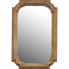 Bring timeless elegance to your foyer or living room with this lovely wall mirror, showcasing a step molding frame and an antiqued gold leaf finish.
