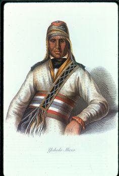 Yoholo-Micco, a Creek Chief, Charles Bird King Painting, 1826  Creek Native American Indian Tattoos