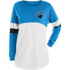 Carolina Panthers New Era Women's Varsity Athletic Long Sleeve T-Shirt – Blue