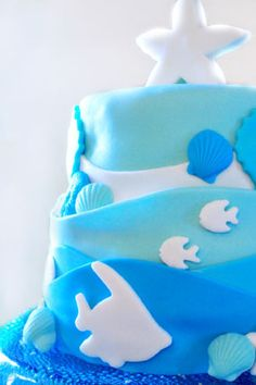 orange and blue baby shower theme | Under the Sea Dreaming Blue and Green Baby Shower | Baby Lifestyles